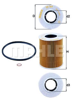 Filtre a huile KNECHT OX 369D (X1)