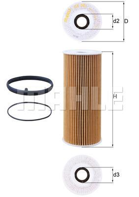 Filtre a huile KNECHT OX 381D (X1)