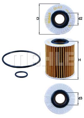 Filtre a huile KNECHT OX 413D1 (X1)