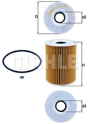 Filtre a huile KNECHT OX 254D1 (X1)