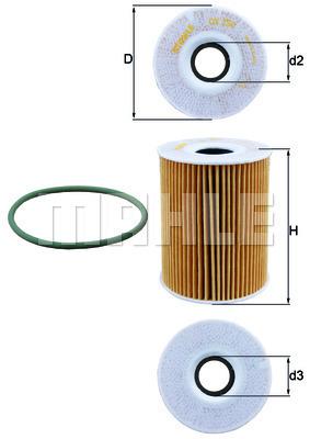 Filtre a huile KNECHT OX 254D5 (X1)
