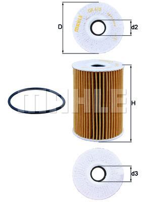 Filtre a huile KNECHT OX 415D (X1)