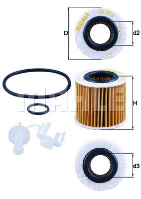 Filtre a huile KNECHT OX 416D2 (X1)