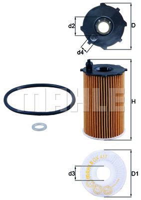 Filtre a huile KNECHT OX 417D (X1)