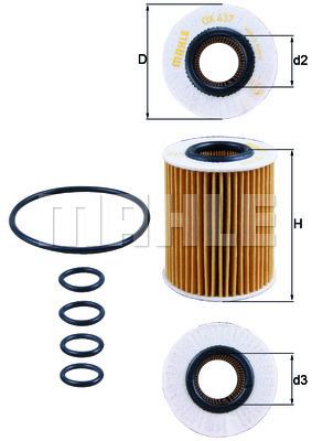 Filtre a huile KNECHT OX 437D (X1)