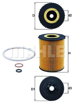 Filtre a huile KNECHT OX 636D (X1)