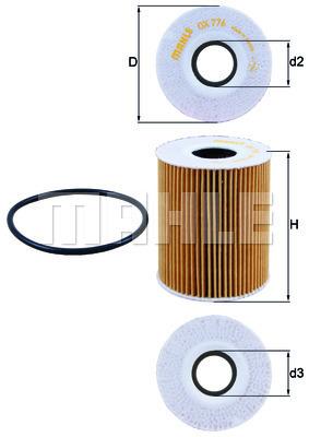 Filtre a huile KNECHT OX 776D (X1)