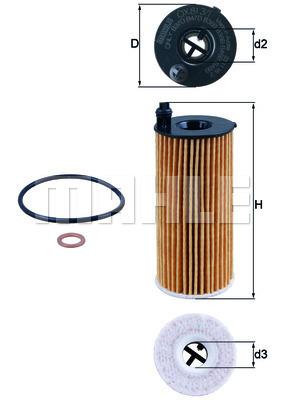 Filtre a huile KNECHT OX 813/1D (X1)