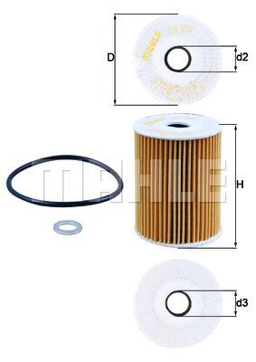 Filtre a huile KNECHT OX 355D (X1)