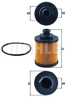 Filtre a huile KNECHT OX 418D (X1)