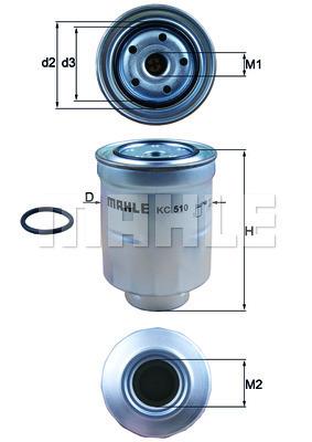 Filtre a carburant KNECHT KC 510D (X1)