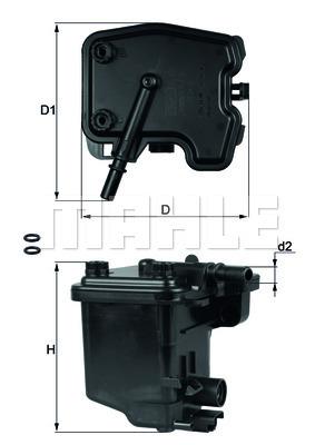 Filtre a carburant KNECHT KL 431D (X1)