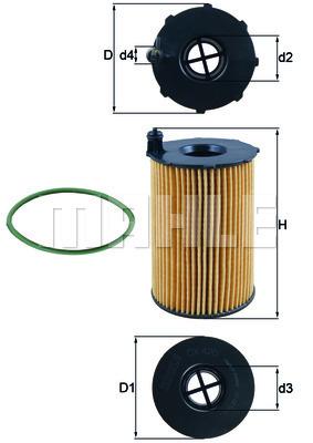 Filtre a huile KNECHT OX 420D (X1)