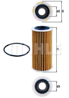 Filtre a huile KNECHT OX 835D (X1)