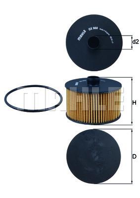 Filtre a huile KNECHT OX 968D (X1)