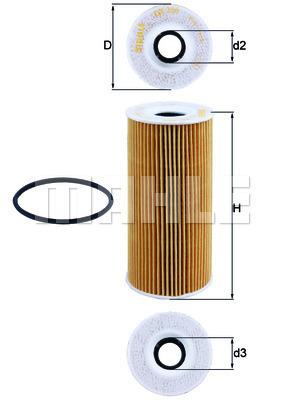 Filtre a huile KNECHT OX 366D (X1)