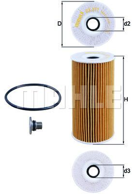 Filtre a huile KNECHT OX 377D (X1)