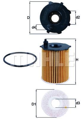 Filtre a huile KNECHT OX 171/16D (X1)