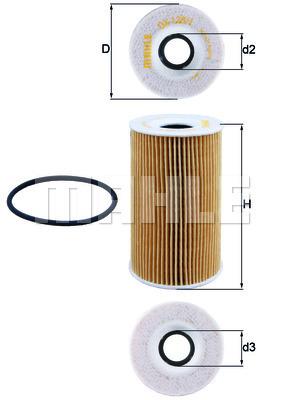 Filtre a huile KNECHT OX 128/1D (X1)