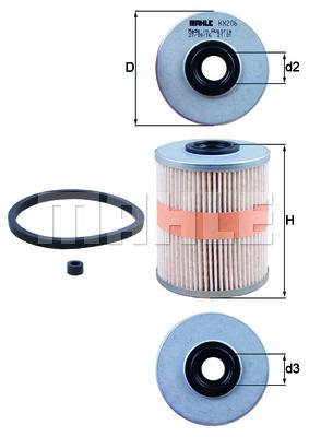 Filtre a carburant KNECHT KX 206D (X1)
