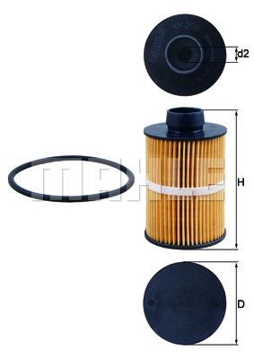 Filtre a carburant KNECHT KX 208D (X1)