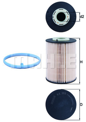 Filtre a carburant KNECHT KX 393D (X1)