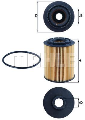 Filtre a huile KNECHT OX 160D (X1)