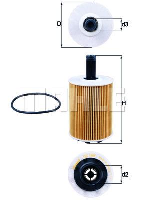 Filtre a huile KNECHT OX 188D (X1)