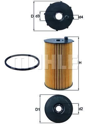 Filtre a huile KNECHT OX 205/2D (X1)