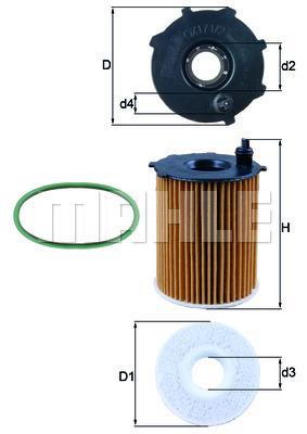 Filtre a huile KNECHT OX 171/2D1 (X1)