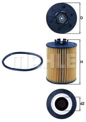 Filtre a huile KNECHT OX 173D (X1)