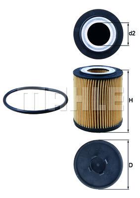 Filtre a huile KNECHT OX 182D (X1)