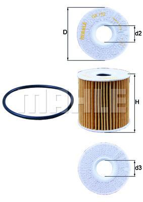 Filtre a huile KNECHT OX 192D (X1)