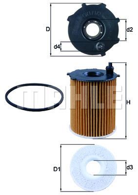 Filtre a huile KNECHT OX 171/2D (X1)