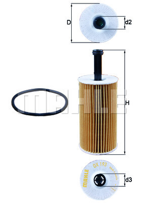Filtre a huile KNECHT OX 193D (X1)
