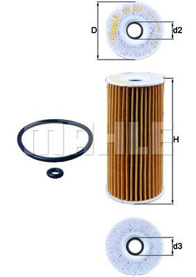 Filtre a huile KNECHT OX 201D (X1)