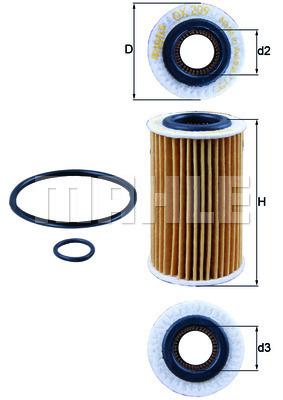 Filtre a huile KNECHT OX 209D (X1)