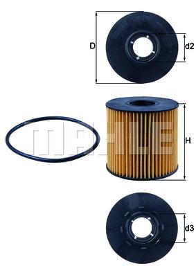 Filtre a huile KNECHT OX 210D (X1)
