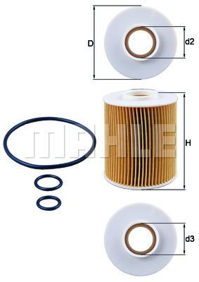 Filtre a huile KNECHT OX 163/4D (X1)