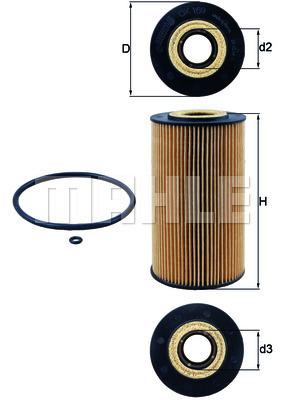Filtre a huile KNECHT OX 169D (X1)