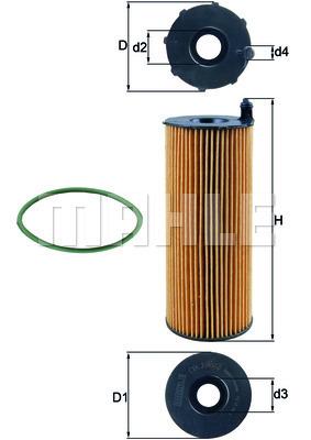 Filtre a huile KNECHT OX 196/3D (X1)