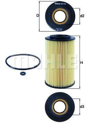 Filtre a huile KNECHT OX 773D (X1)