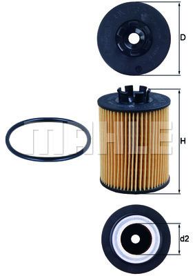 Filtre a huile KNECHT OX 173/2D (X1)