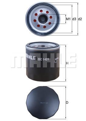 Filtre a huile KNECHT OC 1421 (X1)