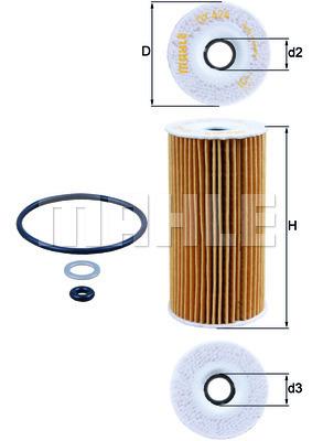 Filtre a huile KNECHT OX 424D (X1)