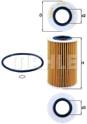 Filtre a huile KNECHT OX 436D (X1)