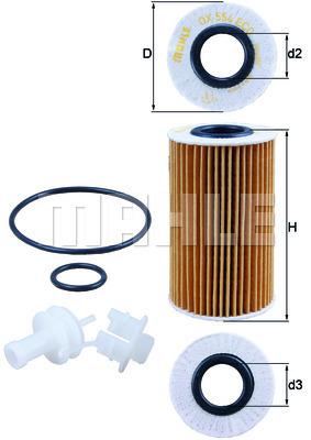 Filtre a huile KNECHT OX 554D2 (X1)