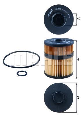 Filtre a huile KNECHT OX 563D (X1)