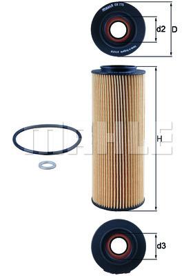 Filtre a huile KNECHT OX 775D (X1)