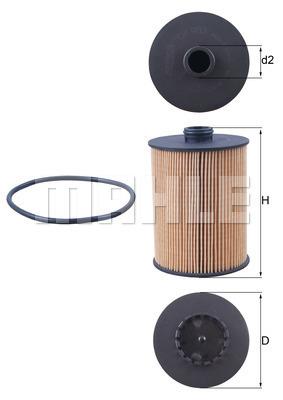 Filtre a huile KNECHT OX 983D (X1)